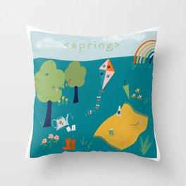 Spring Joy Throw Pillow
