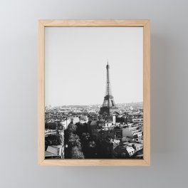 Paris City Sky // Eiffel Tower City Landscape Photography Shot from the top of Champs Elysees France Framed Mini Art Print