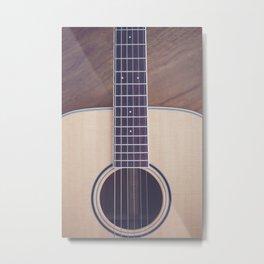Light Acoustic Guitar Metal Print