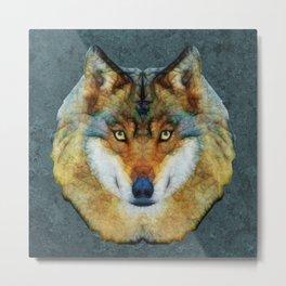 polygon wolf Metal Print