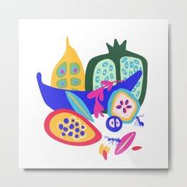 Curious Fruit Metal Print