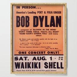 Vintage 1965 Waikiki Shell Hawaii Bob Dylan Concert Poster Serving Tray