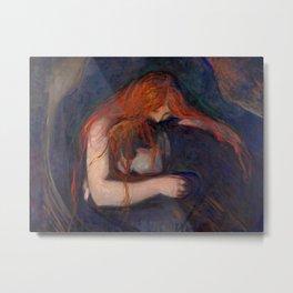 Edvard Munch - Vampire Metal Print
