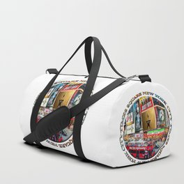 Times Square New York City (badge emblem on white) Duffle Bag