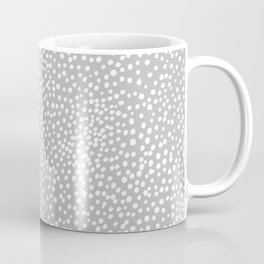 Little wild cheetah spots animal print neutral home trend cool gray black  Coffee Mug