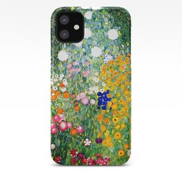 Flower Garden by Gustav Klimt vibrant iPhone Case
