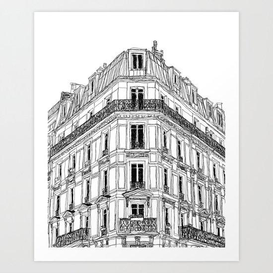 Parisian Facade by sophieschultz