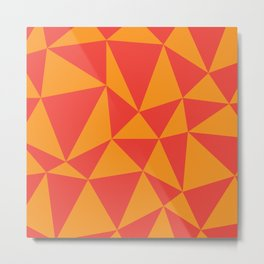 Abstract triangles - red and orange Metal Print