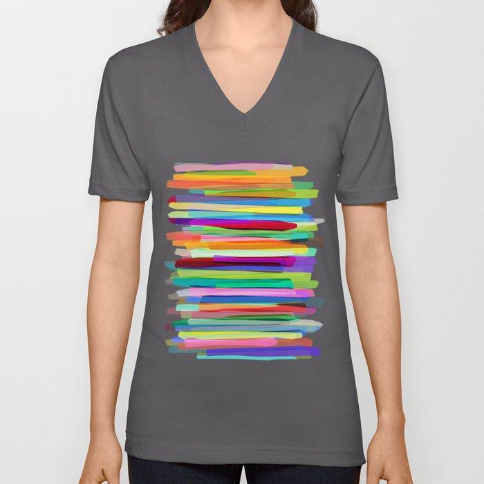 Colorful Stripes 1 Unisex V-Ausschnitt