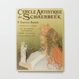 Art nouveau 1897 Artistic Club of Schaerbeek by Privat-Livemont Metal Print