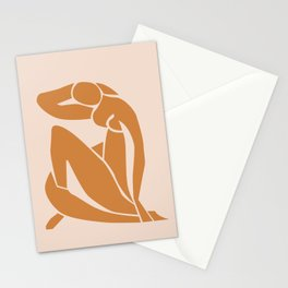 Henri Matisse Print - Abstract Art Poster -  Nude Minimalist Illustration LADY KNELT | large matisse | Modern Art | Nude Art | Feminist Stationery Cards