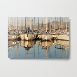 At sunset in the marina Metal Print