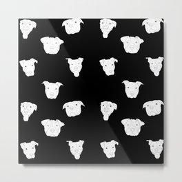 Black pit bull love Metal Print