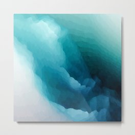 """""""Inner Calm"""" Turquoise Modern Contemporary Abstract Metal Print"""