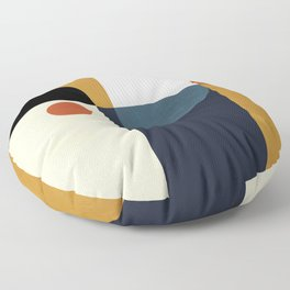 mid century abstract shapes fall winter 4 Floor Pillow