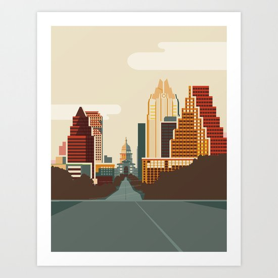 Austin Skyline by kurtisbeavers