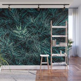 green spiky plant texture abstract background Wall Mural