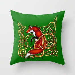 Celtic Fox Throw Pillow