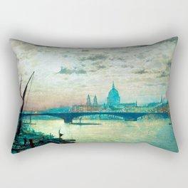 Southwark Bridge and St. Paul's church by John Atkinson Grimshaw Rectangular Pillow