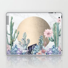Desert Sun + Gemstones Gold Marble Laptop & iPad Skin