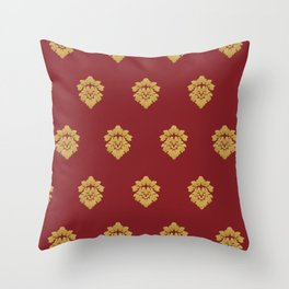 Free Marches (Red) Throw Pillow