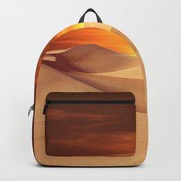 The Sunset On Desert Backpack