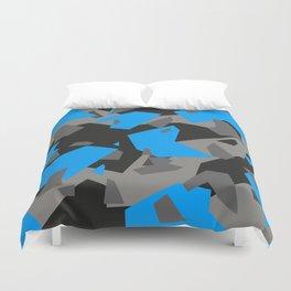 Black\Grey\Blue Geometric Camo Duvet Cover