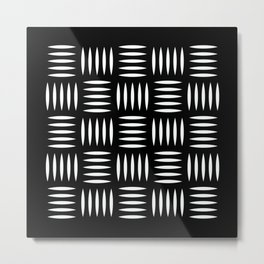 Geometric Pattern 131 (Industrial floor) Metal Print
