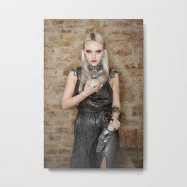 White Metal Rat Metal Print