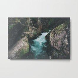 Avalanche Creek Metal Print