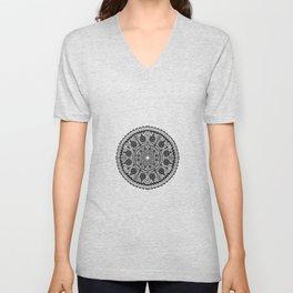 Black Lace mandala Unisex V-Neck