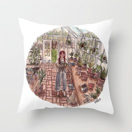 Glass Home Throw Pillow