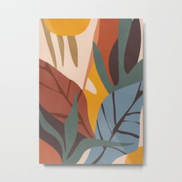 Abstract Art Jungle Metal Print