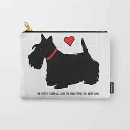 Scottish Terrier Dog-I'm Sorry (red heart) Carry-All Pouch