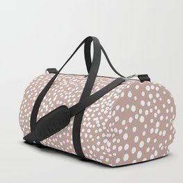 Little wild cheetah spots animal print neutral home trend warm dusty rose coral Duffle Bag