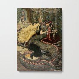 """Marina Fondled the Fiery Dragon"" by Frank C Pape Metal Print"