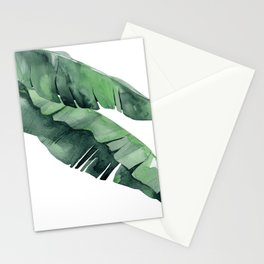 Tropical Island Leaves Pair Stationery Cards