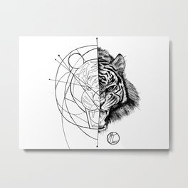 tiger line Metal Print
