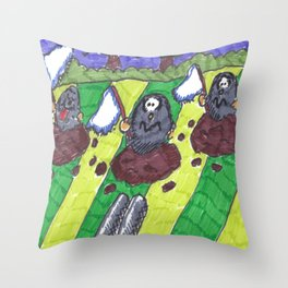 Surrendering Moles Throw Pillow