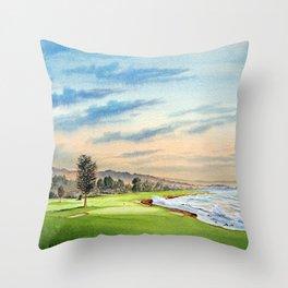 Pebble Beach Golf Course 18th Hole Throw Pillow