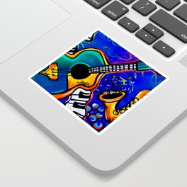 Carnival Jazz Painting Sticker
