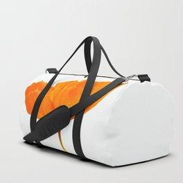 One And Only - Orange Poppy White Background #decor #society6 #buyart Duffle Bag