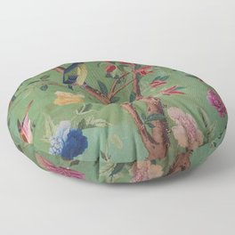Green Dream Chinoiserie Floor Pillow