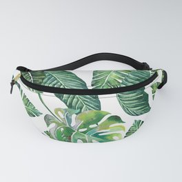Jungle Leaves, Banana, Monstera #society6 Fanny Pack