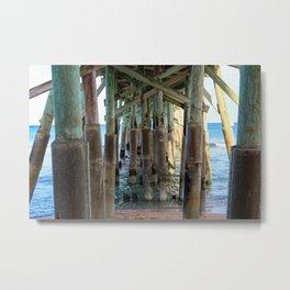 Flagler Beach Pier Metal Print