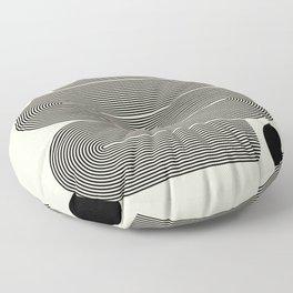 Abstraction_LINE_BLACK_DOT_VISUAL_ART_Minimlism_001A Floor Pillow