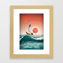 Sea Kayaking Framed Art Print