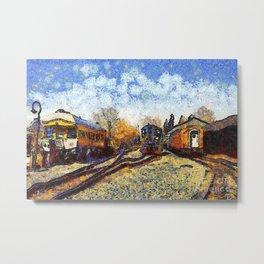 Train station reprint by Vincent van Gogh Metal Print