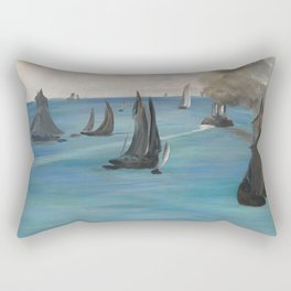 "Édouard Manet ""Sea View, Calm Weather (Vue de mer, temps calme)"" Rectangular Pillow"