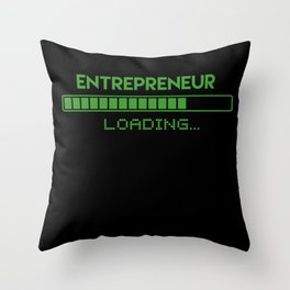 Entrepreneur Loading Throw Pillow